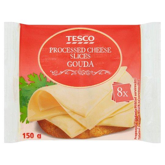 Tesco Sýr tavený plátkový Gouda 8 x 18,75g