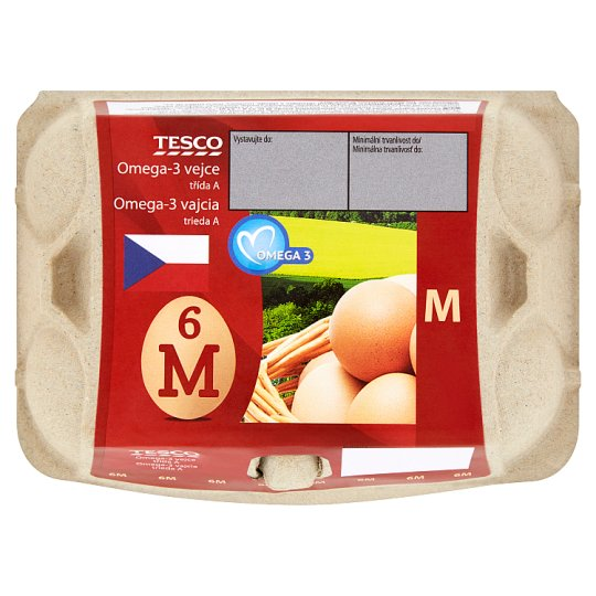 Tesco Omega-3 vejce M 6 ks
