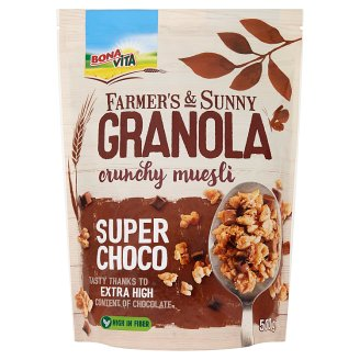 Bona Vita Farmer's & Sunny Granola müsli super choco 500g
