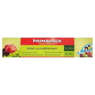 Primapack Zipper All-Purpose Bags 1L x 10 pcs, 3L x 5 pcs