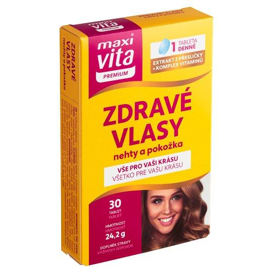 MaxiVita Premium Zdravé vlasy, nehty a pokožka 30 tablet 25,7g