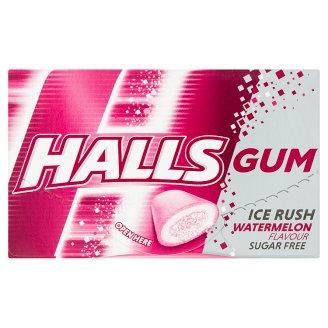 Halls Gum Ice Rush žvýkačka bez cukru s melounovou příchutí 18 g