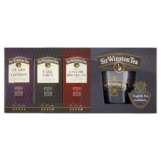 Sir Winston Tea Gift Set + Mug, 60 Bags, 111g
