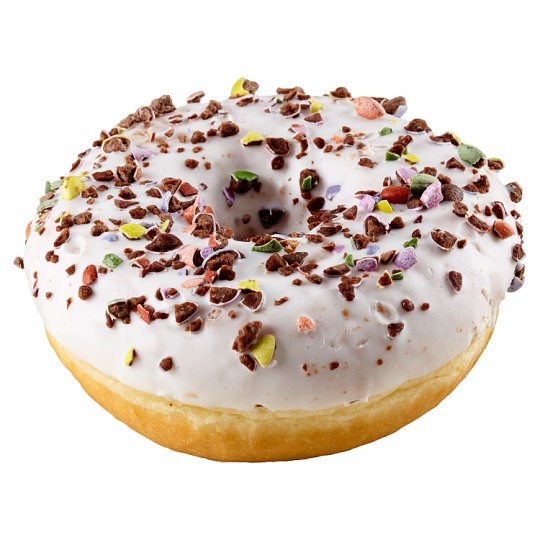 White Donut with Crushed Bonbons 58g