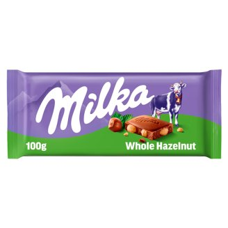 Milka Mléčná čokoláda z alpského mléka s celými jádry lískových ořechů 100g
