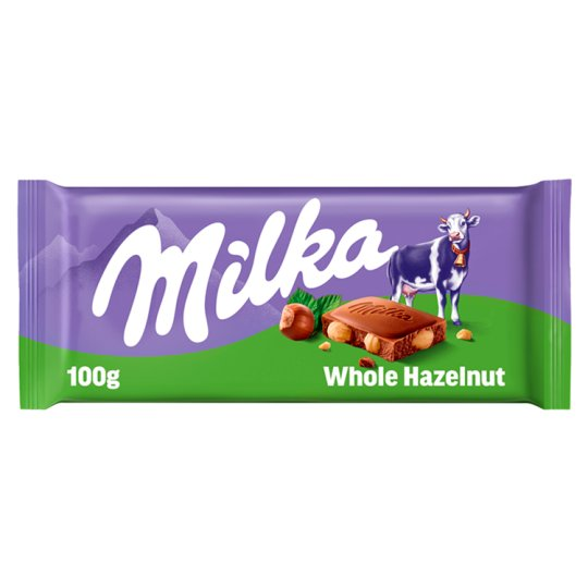 Milka Whole Hazelnut 100g