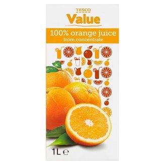 Tesco Value 100% pomerančová šťáva z koncentrátu 1l