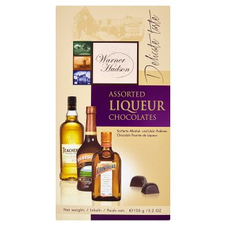 Warner Hudson Čokoládové bonbony plněné alkoholovou tekutou náplní 150g