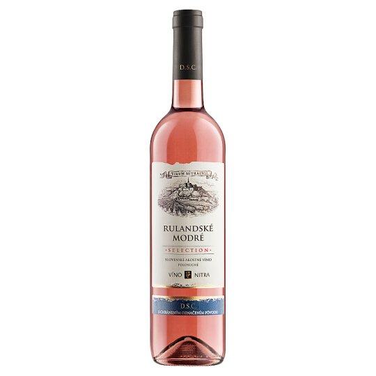 Víno Nitra Selection Rulandské modré růžové víno polosuché 0,75l