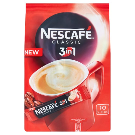 NESCAFÉ 3in1 Classic, instantní káva, 10 sáčků x 17,5 g (175g)