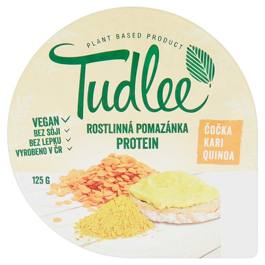 Tudlee Vegetable Spread Lentil, Curry, Quinoa 125g