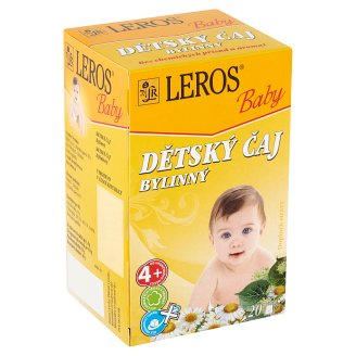 Leros Baby Dětský čaj bylinný 20 x 1,8g