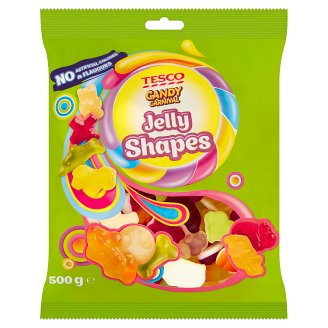 Tesco Candy Carnival Jelly Shapes želé s ovocnými příchutěmi 500g
