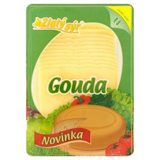 Zlatý Sýr Gouda 48% Natural Semi-hard Cheese Sliced 300g