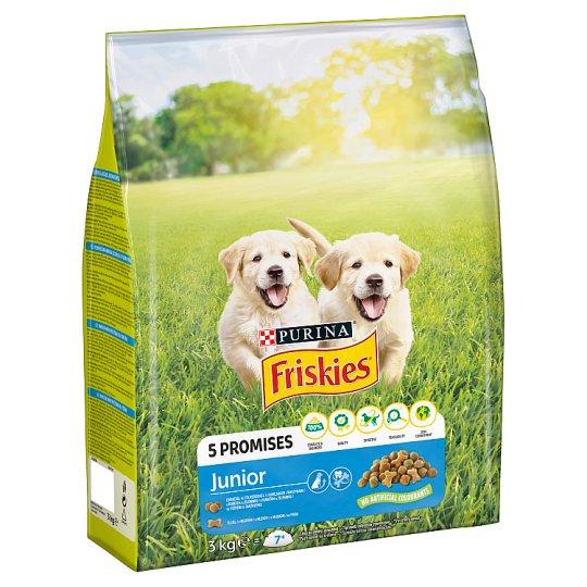 Friskies pro štěňata Junior s kuřetem, zeleninou a mlékem 3kg