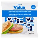 Tesco Value Pre-fried Chicken Hamburger Deep-Frozen 6 pcs 420g
