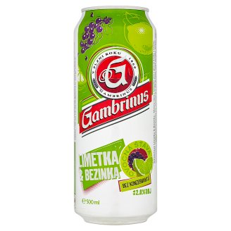 Gambrinus Lime & Elderberry Mixed Drink from Beer 500ml