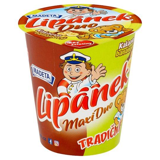 Madeta Lipánek Maxi Duo kakaovo banánový 130g