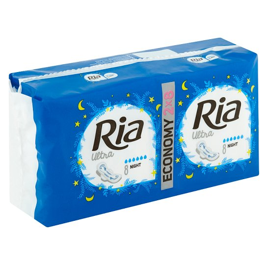 Ria Ultra Night Pads 2 x 8 pcs