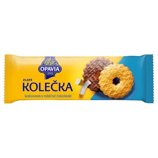 Opavia Zlaté Castors with Coconut Half Coated in Milk Chocolate 146g