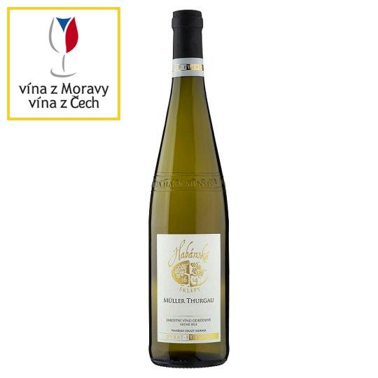 Habánské Sklepy Müller Thurgau suché bílé víno 0,75l