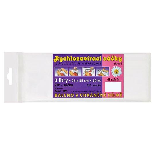 Select Rychlozavírací sáčky zipové 3l 25 x 35 cm 10 ks