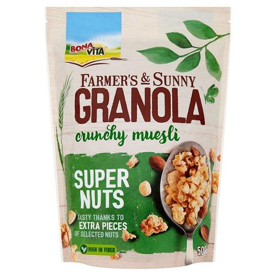 Bona Vita Farmer's & Sunny Granola Super Nuts müsli 500g