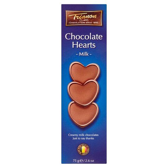 Trianon Srdíčka z mléčné čokolády 75g