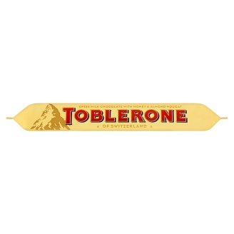 Toblerone Švýcarská mléčná čokoláda s medovo-mandlovým nugátem 50g