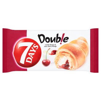 7 Days Double Croissant with Vanilla Flavour and Sour Cherry Fillings 60g
