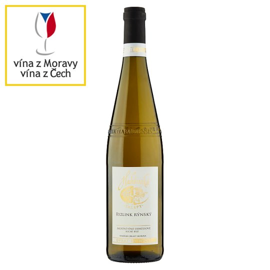 Habánské Sklepy Ryzlink Rýnský Quality Varietal Dry White Wine 0.75L