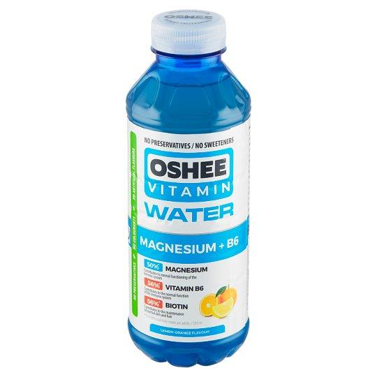 Oshee Vitamin Water Magnesium +B6 nesycený nápoj s citrónovo-pomerančovou příchutí 555ml