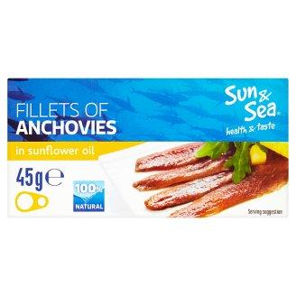 Sun & Sea Sardelové filety ve slunečnicovém oleji 45g