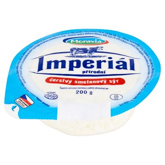 Moravia Imperial Natural Fresh Cream Cheese 200g
