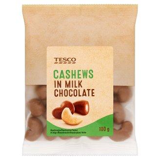 Tesco Cashews in Milk Chocolate 100g