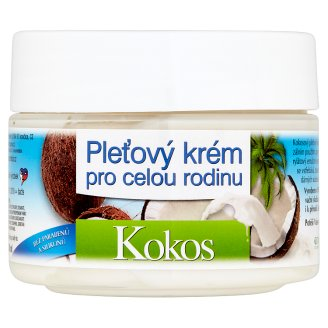 Bione Cosmetics Bio Kokos pleťový krém pro celou rodinu 260ml