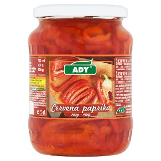 Ady Red Pepper Slices 630g