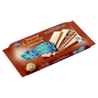 Opavia Kolonáda Original Premium Wafers Filled with Milk Chocolate Block 92g
