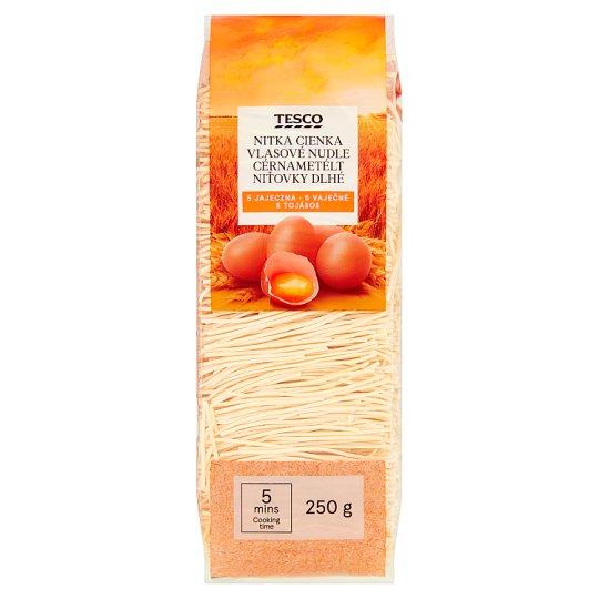 Tesco Vlasové nudle 5 vaječné 250g