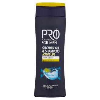 Tesco Pro Formula For Men sprchový gel a šampón Active Life 250ml