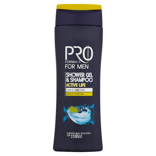 Tesco Pro Formula For Men sprchový gel a šampón Active Life 250ml