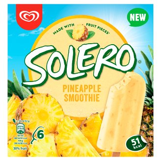 Solero Smoothie Pineapple Fruit Ice Cream 6 x 55ml