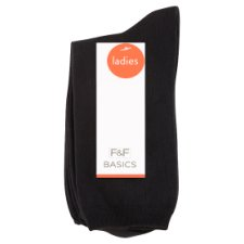 image 1 of F&F Women's Socks 5 Pieces in Pack, Size M-L 39-42, Black