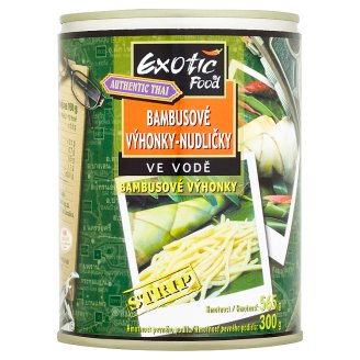 Exotic Food Authentic Thai Bambusové výhonky - nudličky ve vodě 565g