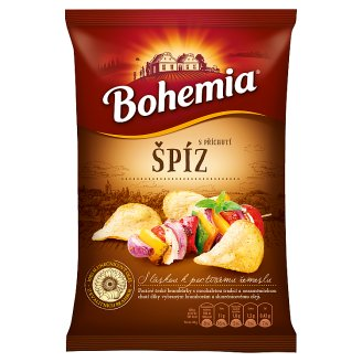 Bohemia Chips s příchutí chalupářský špíz 77g