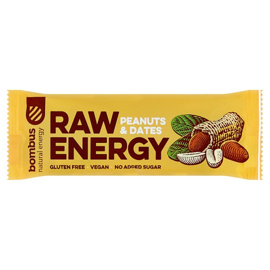 Bombus Raw Energy Peanuts & Dates 50g