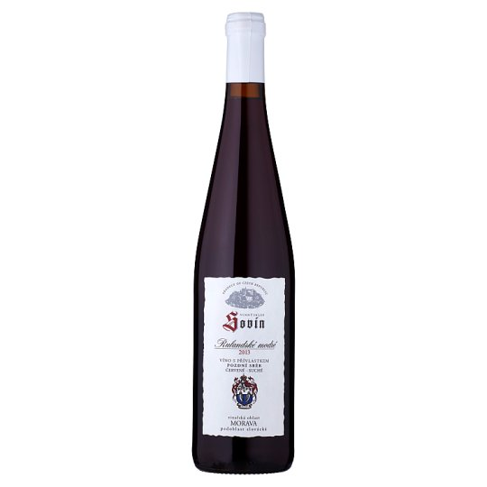 Sovín Pinot Noir Wine Late Harvest Dry Red 0.75L