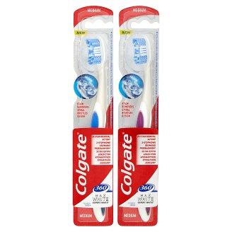 Colgate 360° Max White Expert White střední zubní kartáček