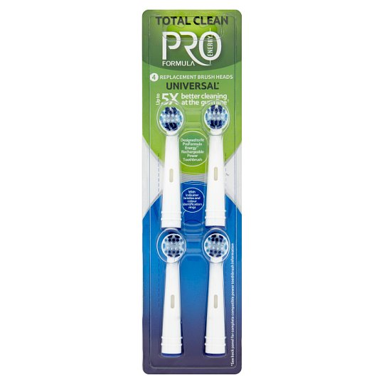 Tesco Pro Formula Replacement Head for Electric Toothbrush for Total Clean 4 pcs