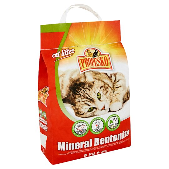 Propesko Mineral Bentonite Clumping Cat Litter 5kg